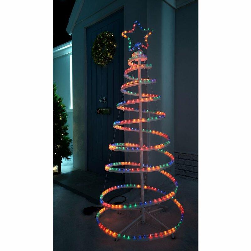 The Seasonal Aisle Flashing 3d Spiral Christmas Tree