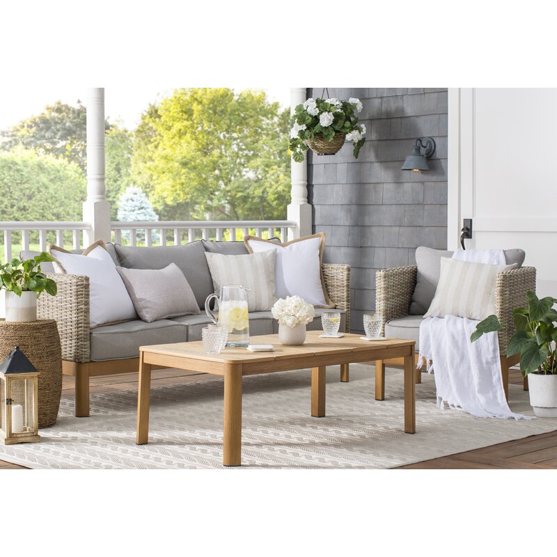 Nanette 4 Piece Rattan Sofa Seating Group With Cushions