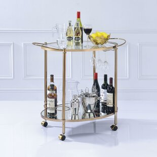 Van Metal Framed Bar Cart