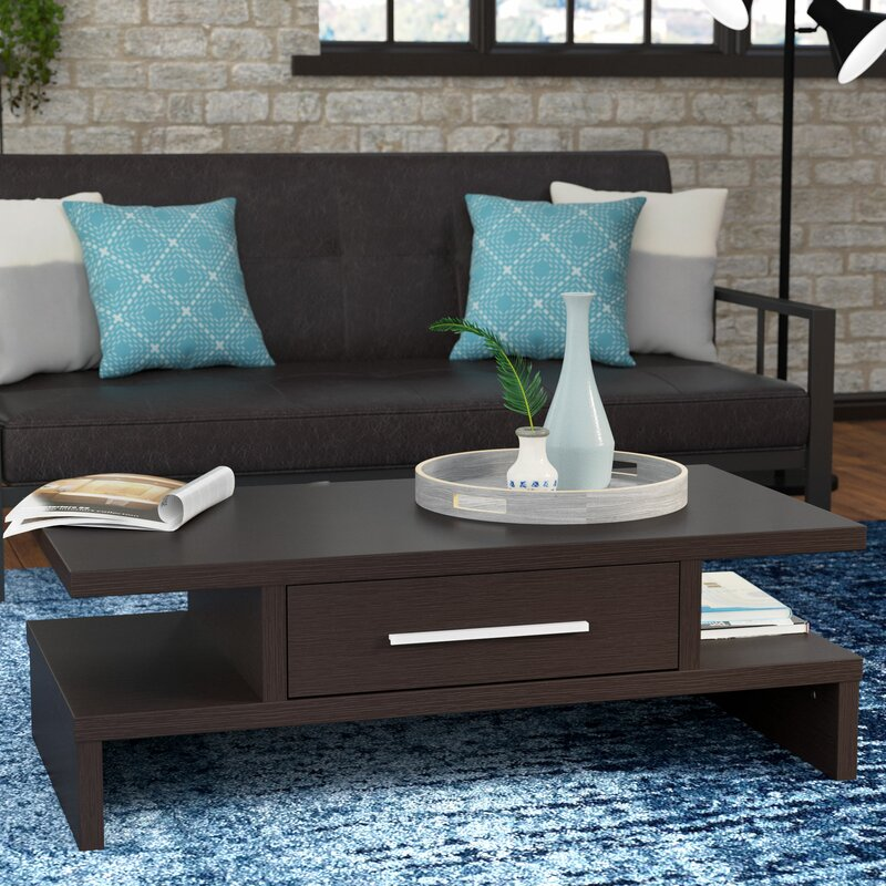 wylie rectangular 1 drawer coffee table reviews allmodern. Black Bedroom Furniture Sets. Home Design Ideas