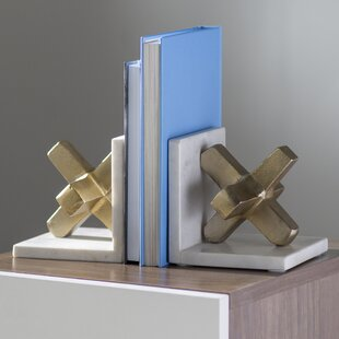 Strikingly Idea Bird Bookends. Aluminum Marble Bookends  Set of 2 Modern Contemporary You ll Love Wayfair