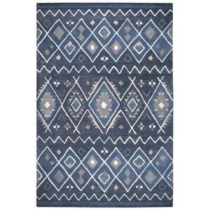 Nona Hand-Tufted Wool Indigo Area Rug