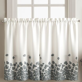 Cailey Charcoal Cafe Curtain