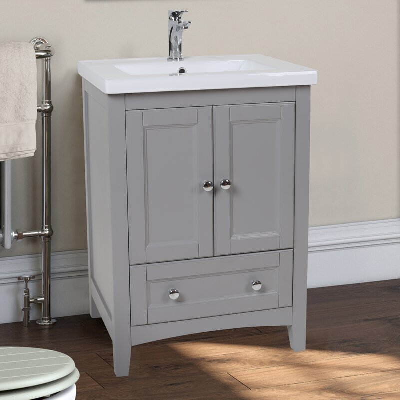 "24 Inch Bathroom Vanity With Legs elegant lighting danville 24"" single bathroom vanity set & reviews"