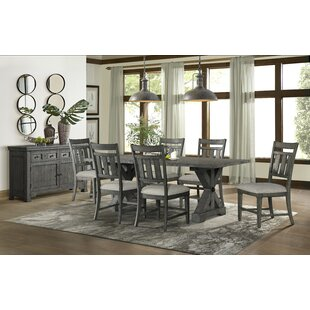 Tandy 7 Piece Solid Wood Breakfast Nook Dining Set
