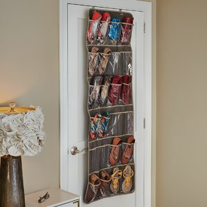 24pocket 12 pair overdoor shoe organizer