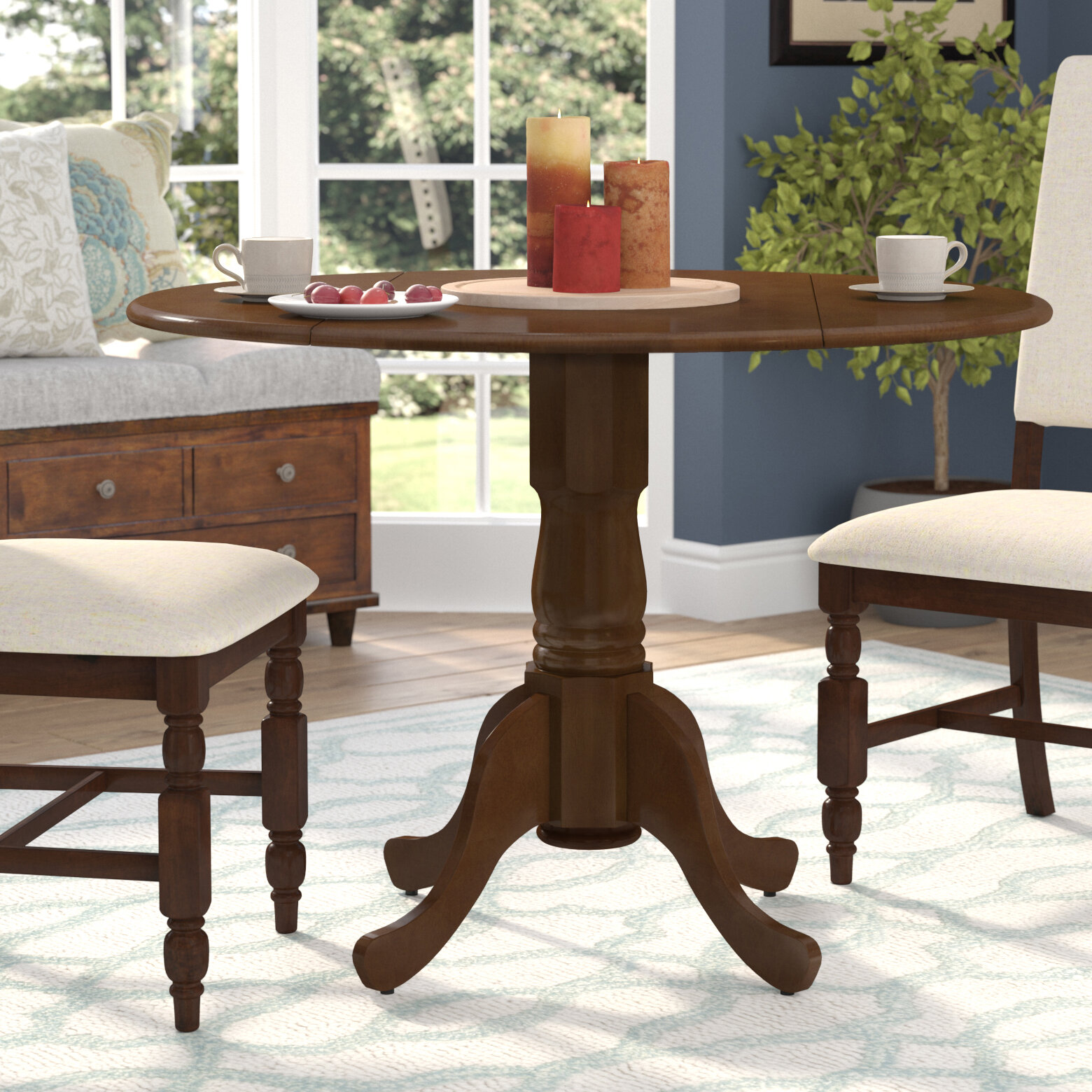 August Grove Spruill Drop Leaf Solid Wood Dining Table Reviews