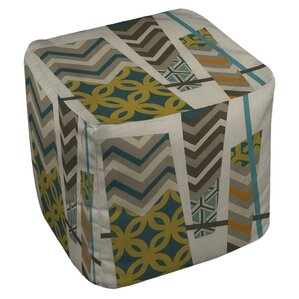 Abstract Scrapbook 1 Ottoman by Manual Woodworkers & Weavers