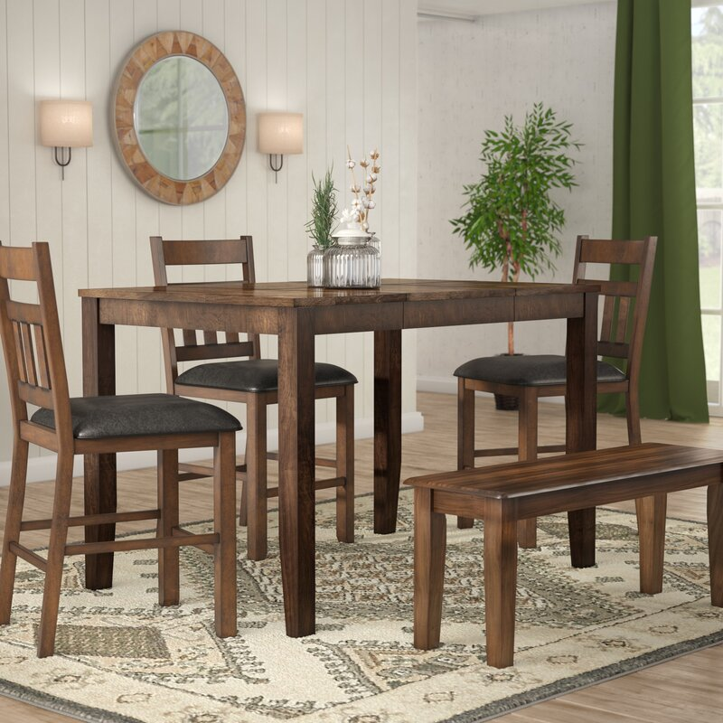 Osborne Square Gather Height Extendable Dining Table