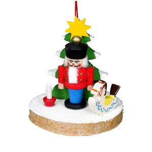 Christian Ulbricht Nutcracker with Tree and Toys Ornament