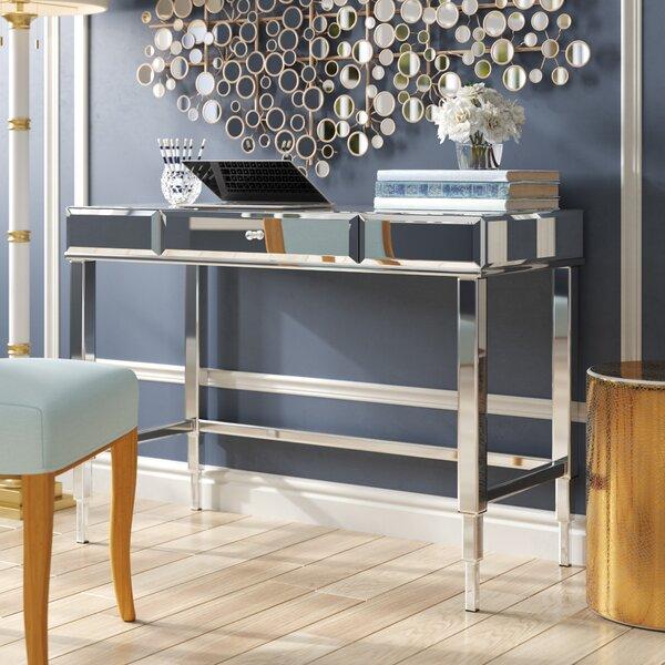 Astonishing Glass Desk With Chrome Legs Wayfair Download Free Architecture Designs Rallybritishbridgeorg