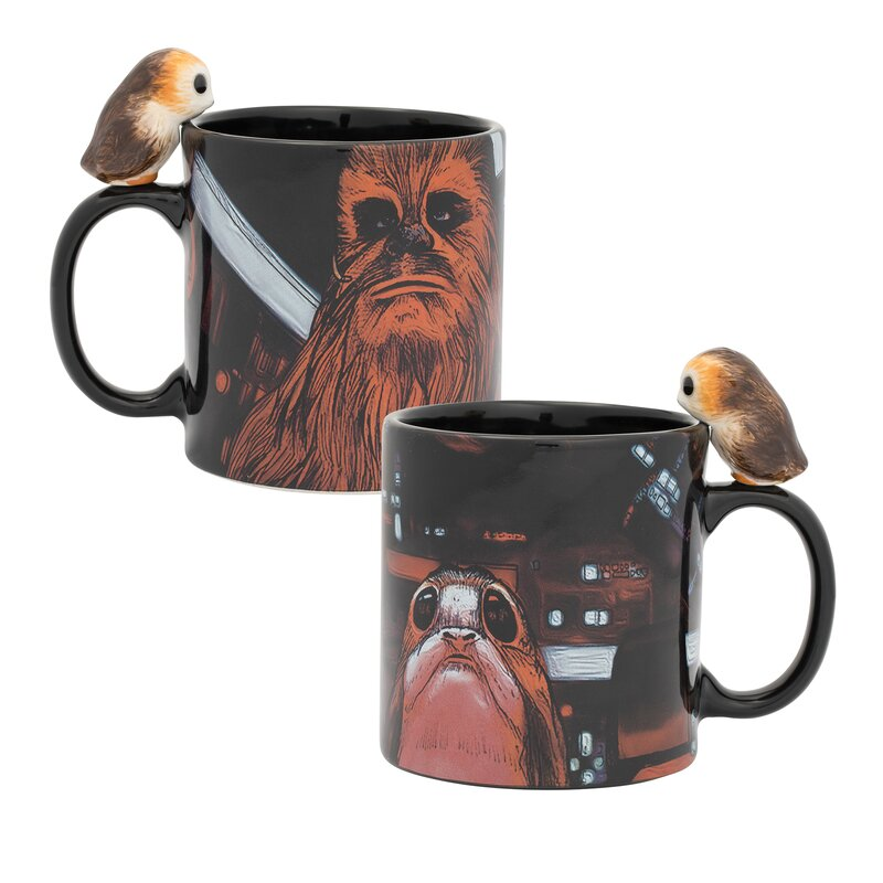 edcd69f593f Star Wars Peeking Porg 20 oz. Sculpted Ceramic Mug