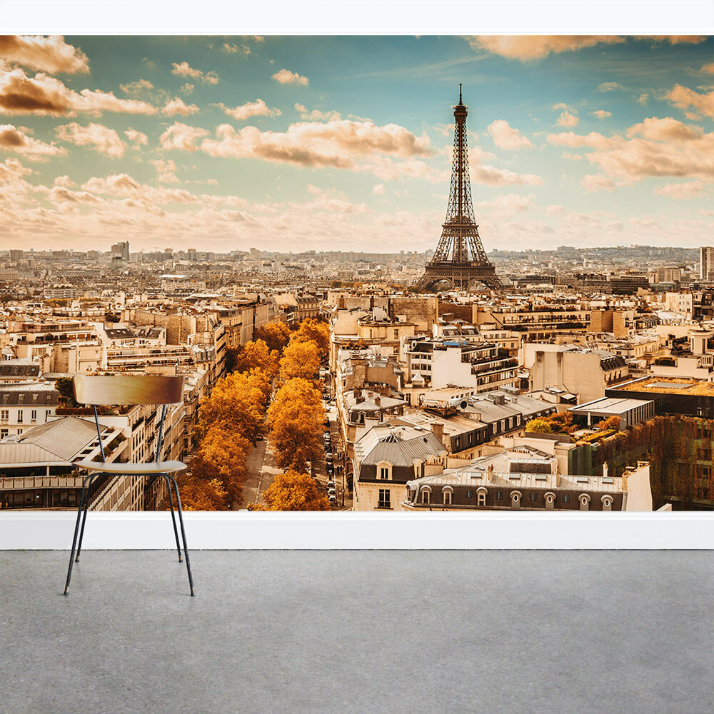 Wallums Wall Decor Paris Cityscape With Eiffel Tower 8 X 144 3