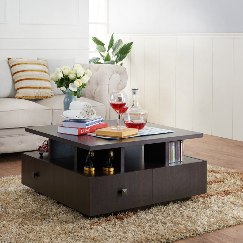 latitude run square coffee table & reviews | wayfair