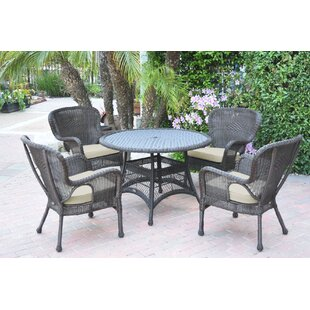 Hinnenkamp 5 Piece Dining Set With Cushions