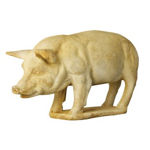 Animals Pig On Base Garden Statue