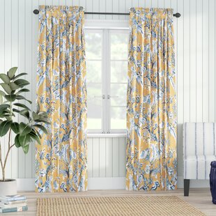 French~ Farm House Style ~pinch Pleat Drapery Ring Style Curtains Floral~pretty Curtains, Drapes & Valances