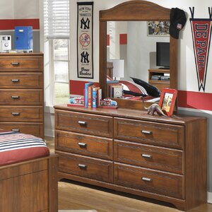 Myrna 6 Drawer Double Dresser with Mirror