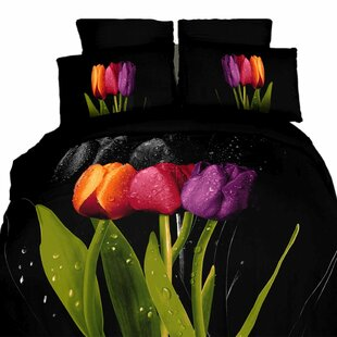 Tulipani 6 Pieces Reversible Duvet Cover Set