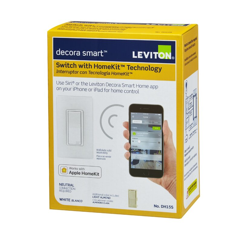 Leviton Decora Smart Switch Wall Mounted Dimmer with Apple Homekit ...