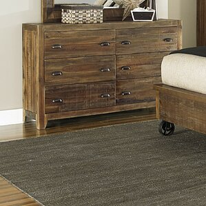 Gilman 6 Drawer Double Dresser by Loon Peak