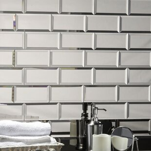 Echo 3 X 6 Mirror Gl L Stick Subway Tile In Silver