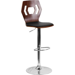 Catina Contemporary Adjustable Height Swivel Bar Stool by Wade Logan