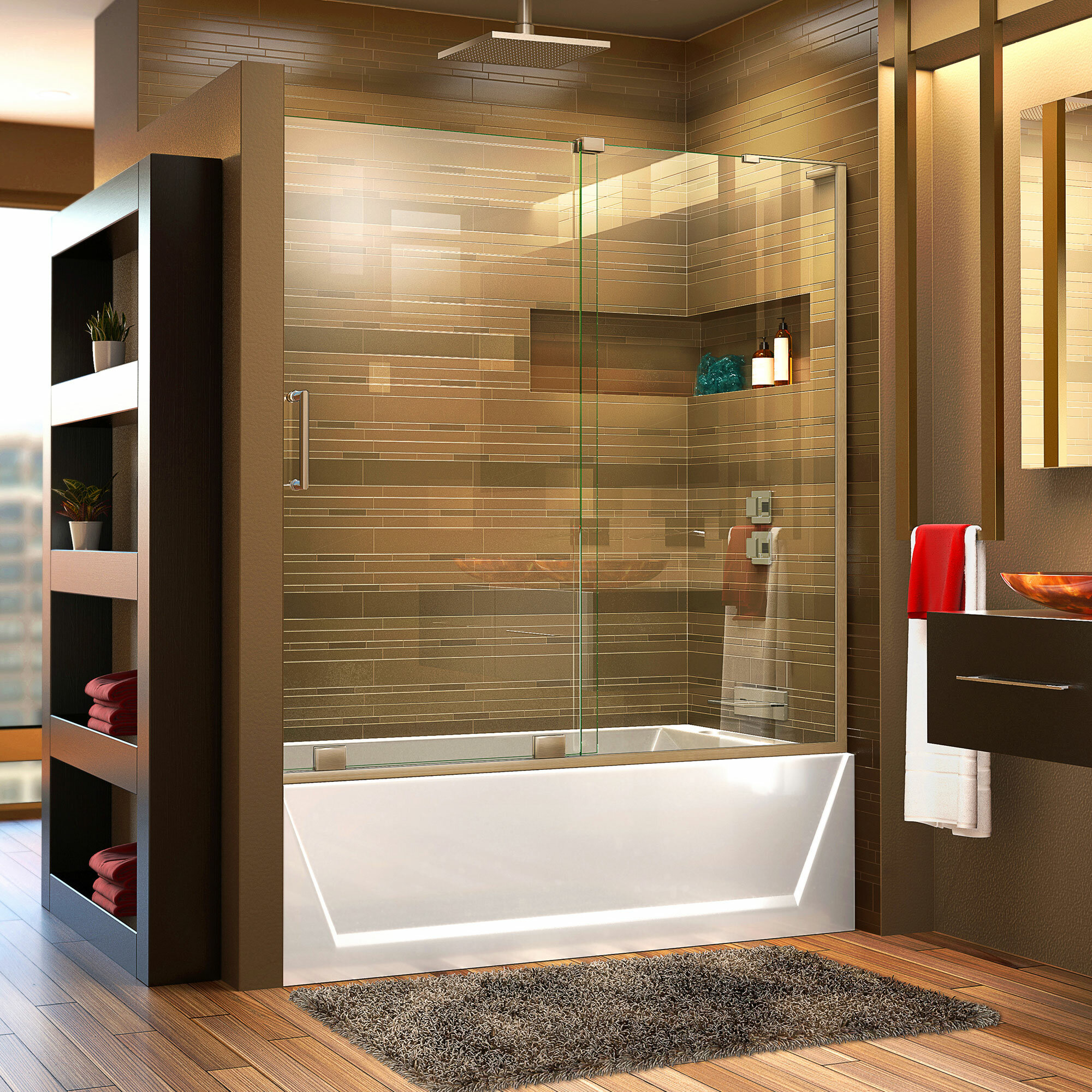 Dreamline Mirage X 58 60 Single Sliding Frameless Tub Door With Clearmax Technology Reviews Wayfair