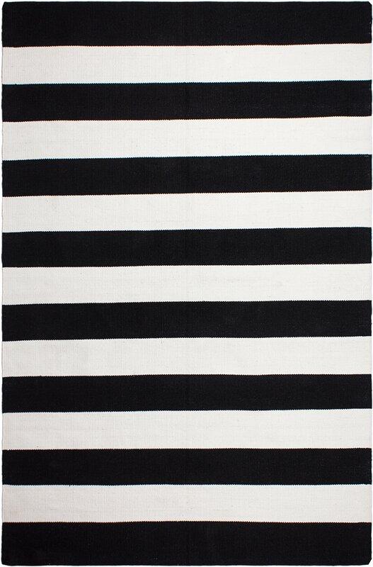 nice black white rug. Nantucket Hand Woven Black Indoor Outdoor Area Rug Fab Habitat