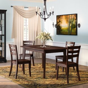 Pico 5 Piece Solid Wood Dining Set