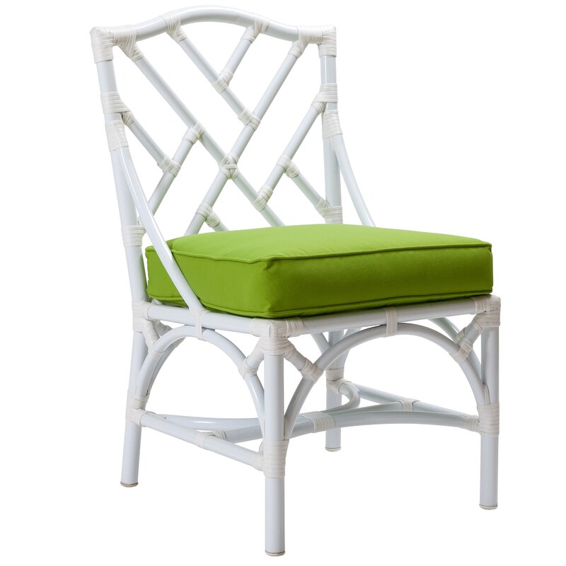 Chippendale Patio Dining Chair With Cushion
