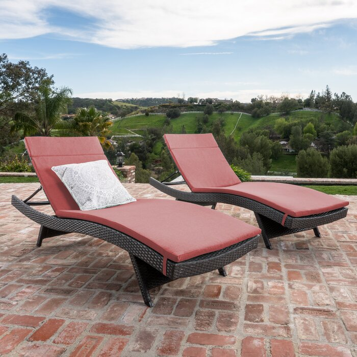 Wicker Chaise Lounges Youll Love Wayfair