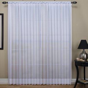 Tergaline Extra Wide Solid Sheer Rod Pocket Single Curtain Panel