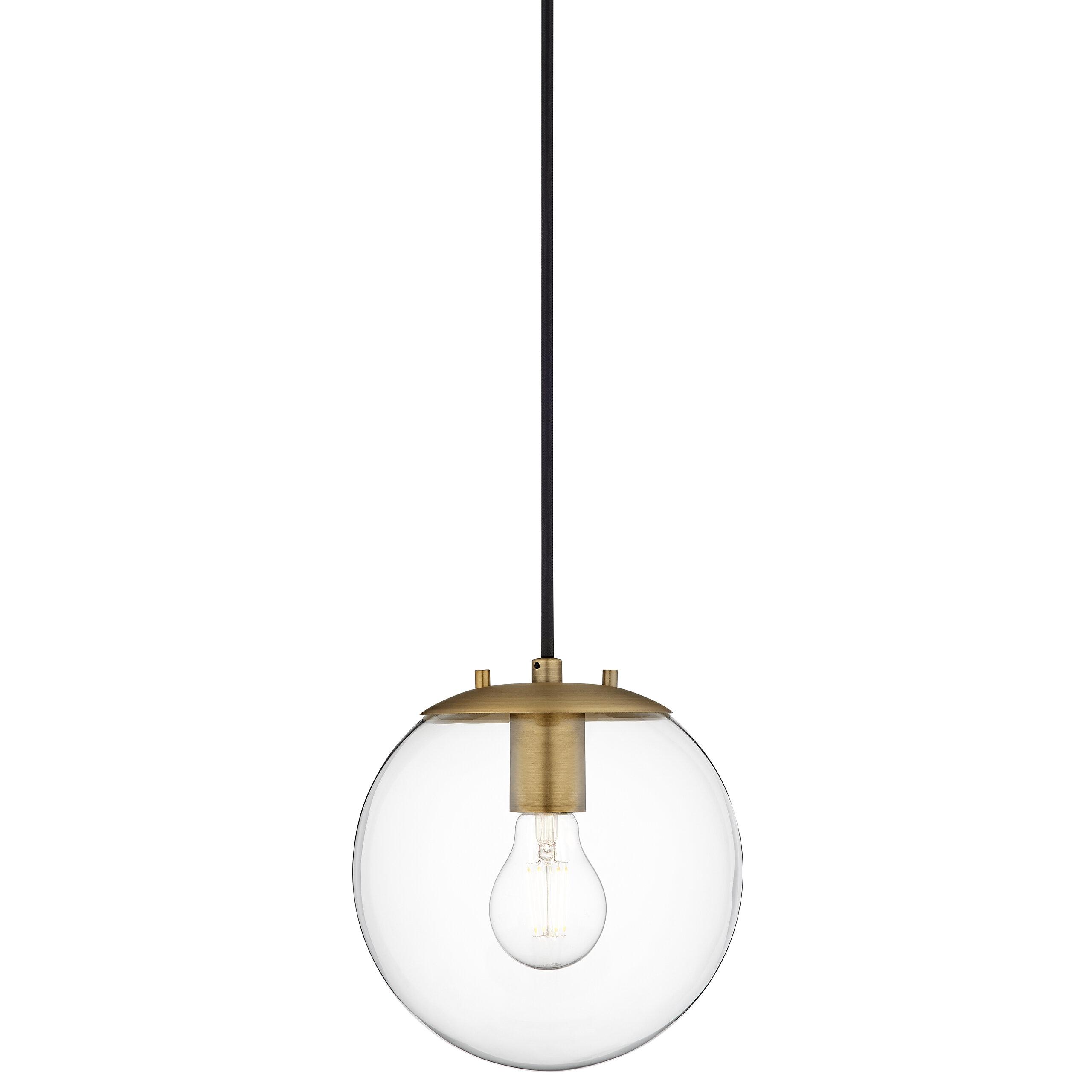 Wysocki 1-Light Single Globe Pendant