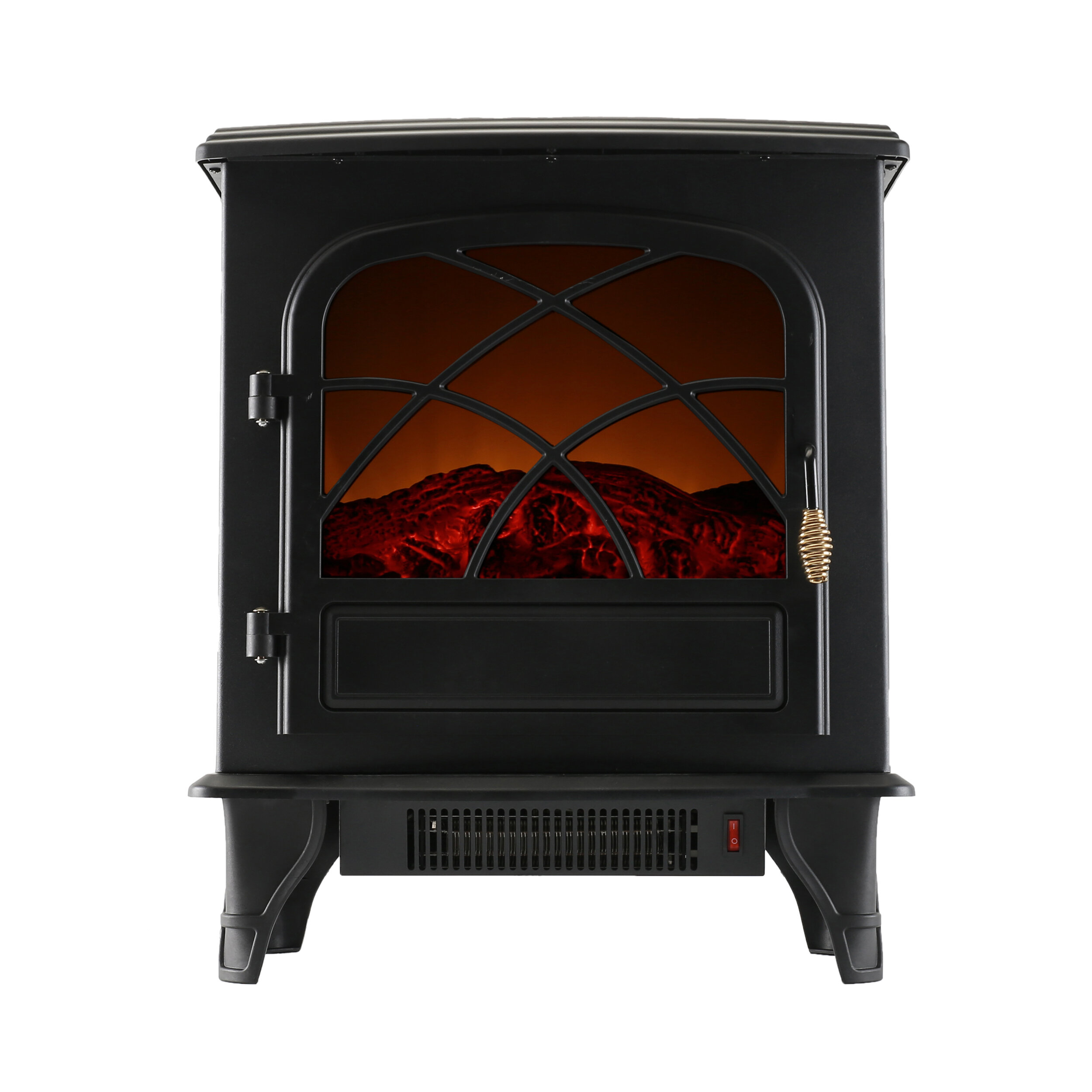 Portable Indoor Home Compact Electric Wood Stove Fireplace