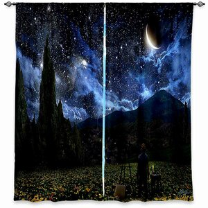 Cannon Alex Ruiz's Starry Night Room Darkening Curtain Panels (Set of 2)