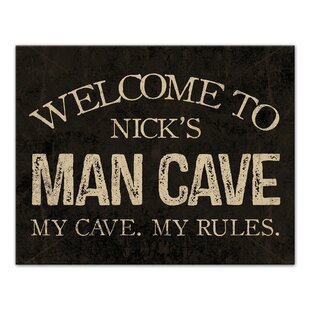 Man Cave Sign Textual Art On Canvas