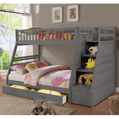 Harriet Bee Mimi Twin Over Full Bunk Bed with Drawers