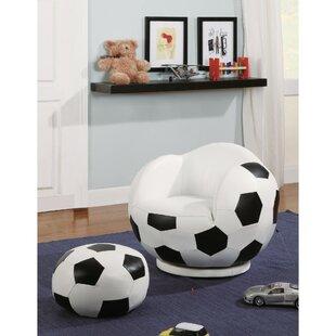 Kells Gamer Choice Soccer Ball Kids Chair And Ottoman