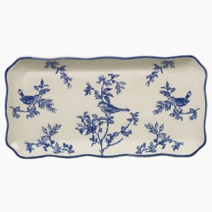 Bird Toile Oblong Serving Tray