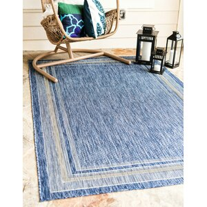 Durocher Blue Outdoor Area Rug