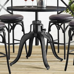 Hardev Industrial Crank Adjustable Pub Table by ..