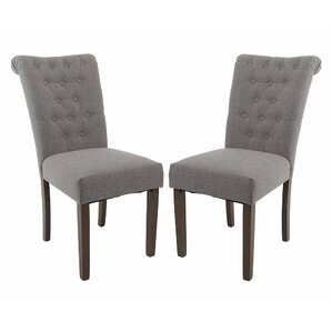 Luxurious Fabric Dining Parsons Chair (Set of 2) by Merax