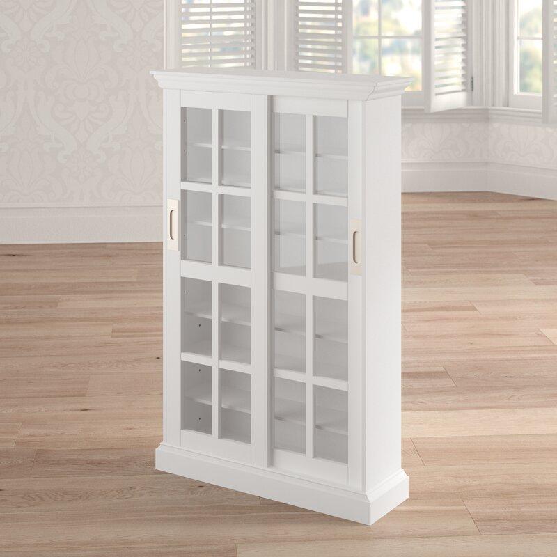 White Farmhouse Sliding Door Cabinet: Bloomsbury Market Sliding Door Multimedia Cabinet In White