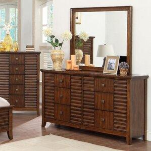 Tora 6 Drawer Dresser with Mirror by Hokku Designs