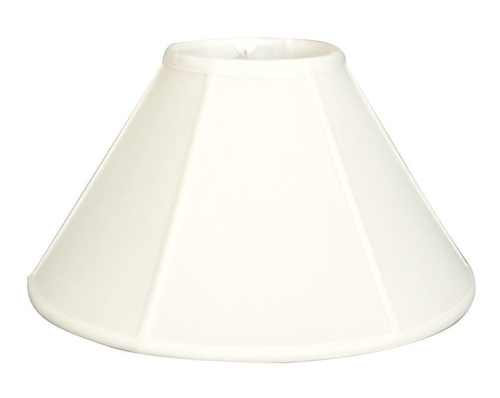 shades lamp table silk white black cream pro shade hexagon bell w