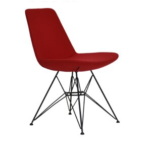 Eiffel Tower Genuine Leather Upholstered Dining Chair by sohoConcept