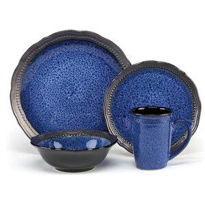 jenna 16 piece dinnerware set service for 4 - Dishware Sets