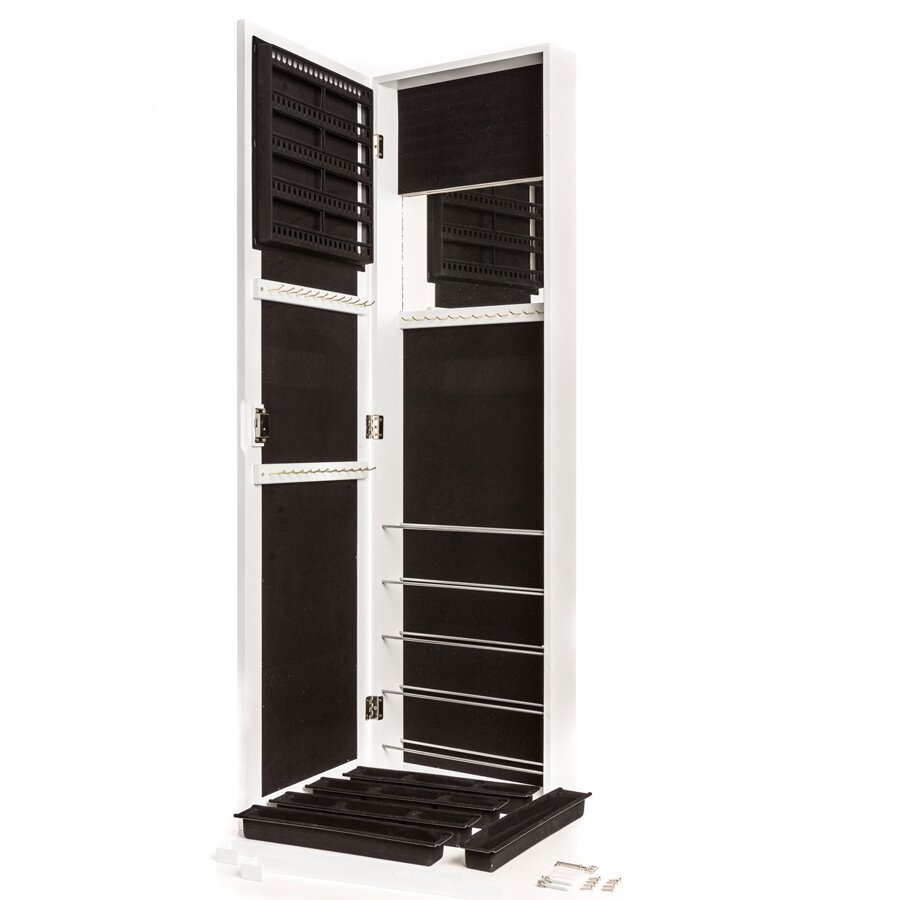 Meridian Point Over the Door or Wall Mount Jewelry Armoire with ...