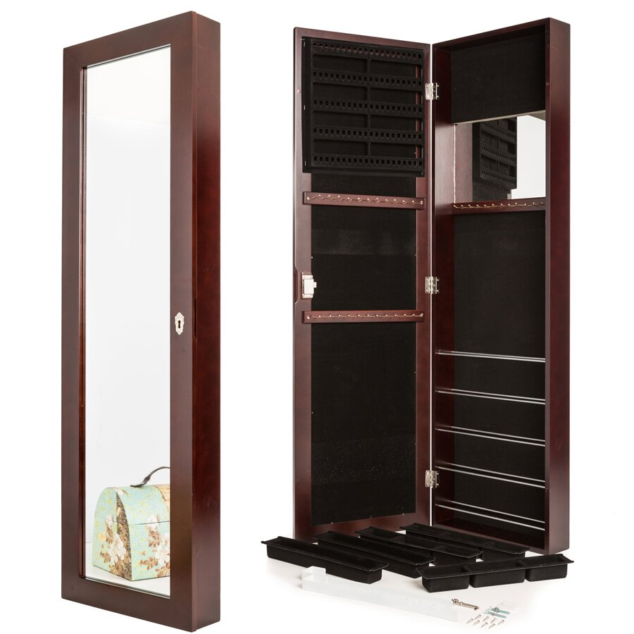 Wall Mount Jewelry Armoire Jewelry Armoire With Mirror